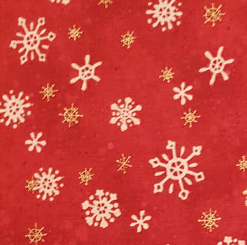 Snow Show by Benartex Gold Metallic Snowflakes - Red