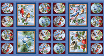 Songbird Serenade by QT for VIP Cranston - Birds Blocks/Panel