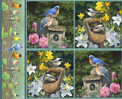 Hautman Spring Birds by VIP Cranston - Set of 4 Panels