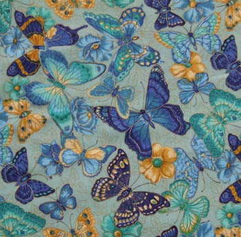 Spring Fever by VIP Cranston - Butterflies on Aqua