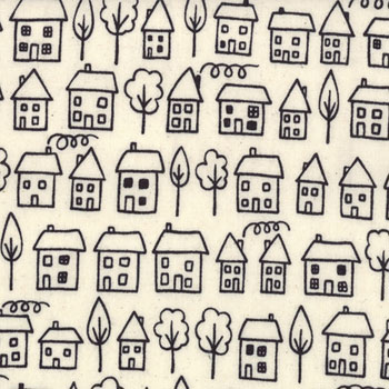 Summersville Moda Fabric - Novelty Avenue Coal FQ