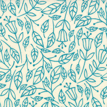 Summersville Moda Fabric - Floral Fall Seafoam