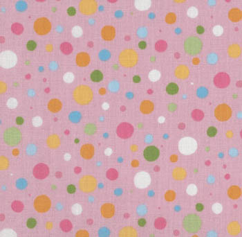 Spring Parade by Makower Fabrics UK - Multi Dot Pink