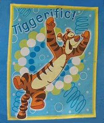 Disney Tigger Boing Bounce - Tiggerific Cot Panel/ Wallhanging