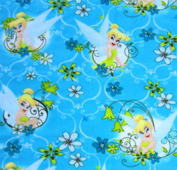 Disney Princesses Polar Fleece - Tinkerbell Flowers