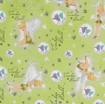 Disney Princesses - Tinkerbell Script on Green