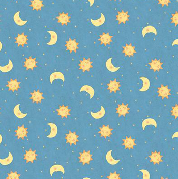 Toy chest by springs sun moon on blue jb quilting for Sun and moon fabric