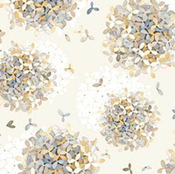 Tranquility by Benartex - Small Tranquility Flower Taupe