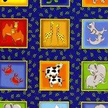 Two by Two by Fabri-Quilt - 2x2 Animals Blocks/Labels