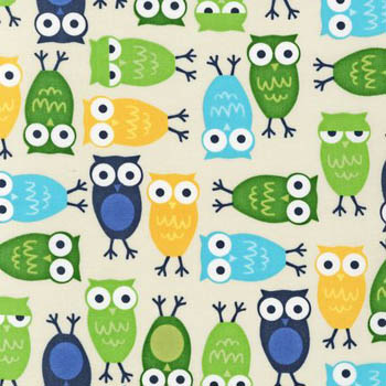 Urban Zoologie Royal by Robert Kaufman - Owls Blue