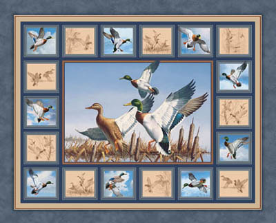 Waldon Pond Mallards Duck Panel/Wallhanging by Springs