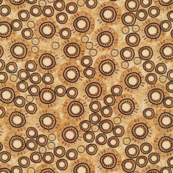 Woodblock by Fabri-Quilt - Circles On Tan