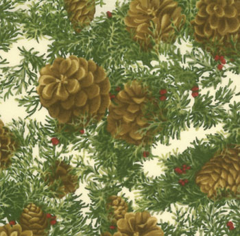 Woodland Holiday by Moda - Pine Cones Ivory