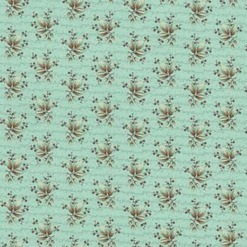 Floral Allure by Blue Hill - Leaves & Berries Brown/Aqua