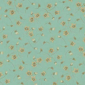 Floral Allure by Blue Hill - Windblown Flowers & Buds Aqua