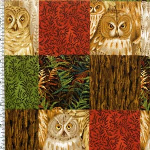 Wise Old Owls by Classic Cottons - Owl Patch