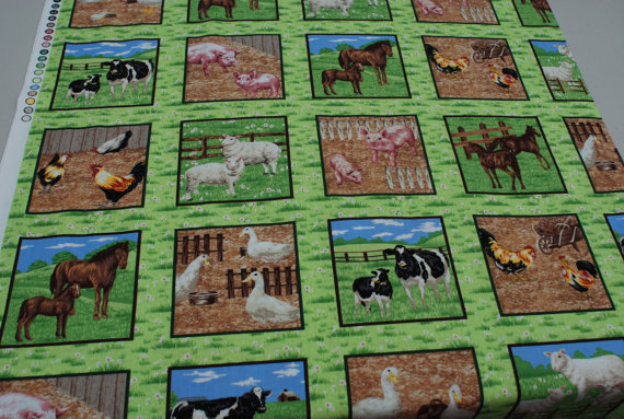 Farmyard Animals by Paintbrush Studio - FarmSquare Blocks/Labels
