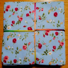 John Louden Fabrics 8 Fat Quarter Bundle Ditsy Floral Blue