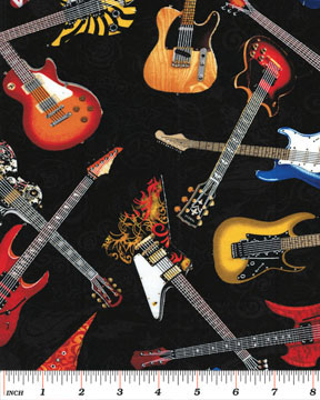 Rock Legends by Benartex - Electric Guitars