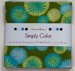 Simply Color by Moda Fabrics Charm Squares