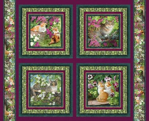 Simple Pleasures by Springs - Set of 4 Cat Panels