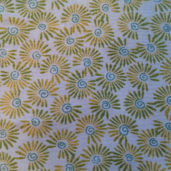 1308 Yellow and Green Floral Design