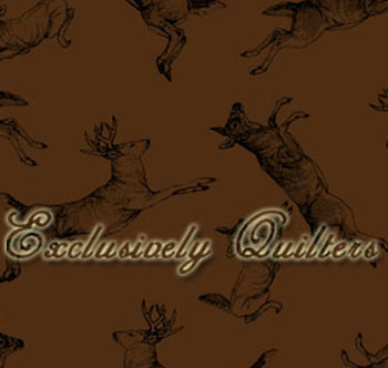 Whitetail Valley by Exclusively Quilters - Deer Allover on Brown