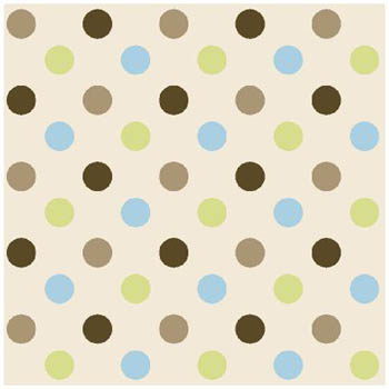 3D Nursery - Multi Spots Flannel Fabric