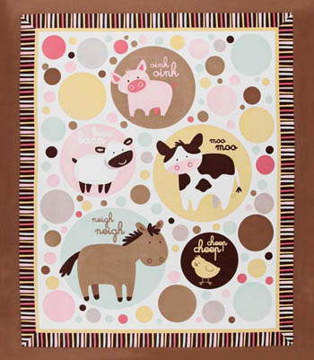 Animal Talk by Springs - Farm Animals Cot Panel