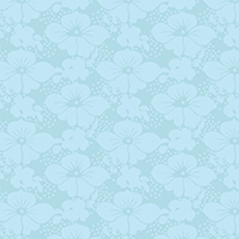 Victorian Nursery Peter Rabbit - Floral Tonal Blue