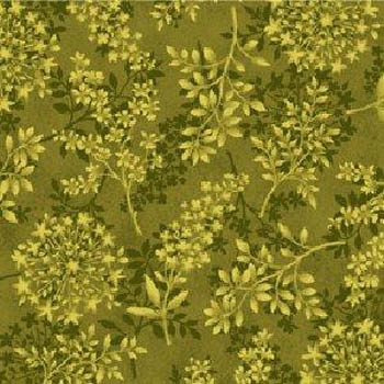 Botanica by Henry Glass - Flowers & Ferns Tonal Ochre