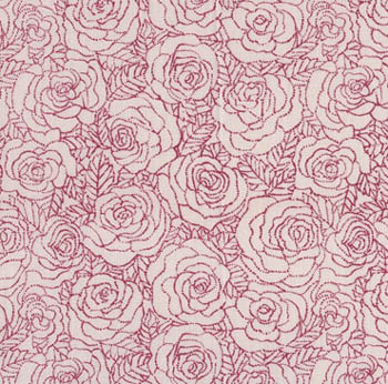Classic Rose by Makower - Dotty Red Roses on Cream