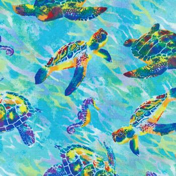Calypso Turtles by Fabri-Quilt - Turtles