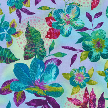 Calypso Turtles by Fabri-Quilt - Floral
