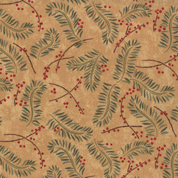 Christmas Spirit Brushed Flannel Moda Fabric - Boughs Grain