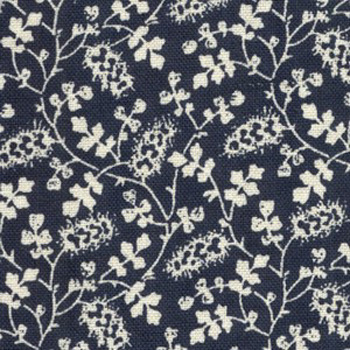 Classic Blooms by Chanteclaire White On Navy