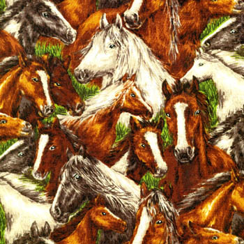 Farm Living by Fabri-Quilt - Horses Allover