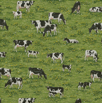 Farm by Makower Fabrics - Cows & Calves Scenic