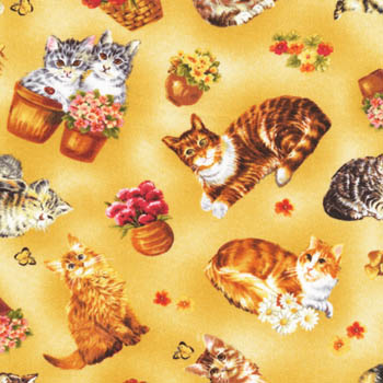 Furry Friends by Fabri-Quilt Fabrics - Cats & Kittens