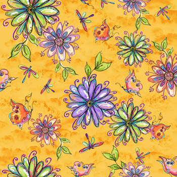 Garden Whimsy by Fabri-Quilt - Large Floral