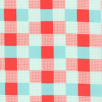 Happy Go Lucky by Moda Fabrics - Check Red/Aqua