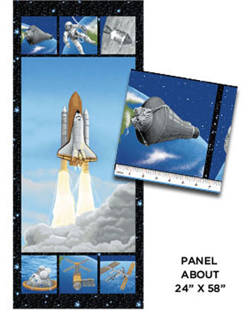 I Want My Space - Lift Off Multi Panel - 150cms Wide