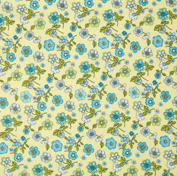Indian Summer by Benartex - Summer Blossom Celery/Blue