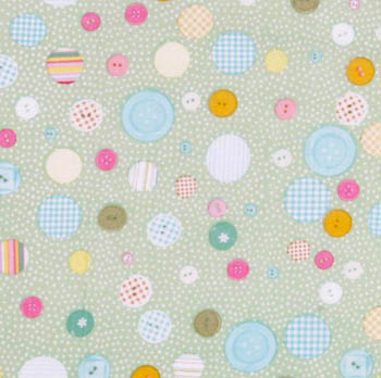 Lil Wonders by Springs - Assorted Buttons on Green