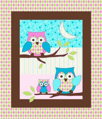 Owl Flannel Nursery - Owl Cot Panel Flannel