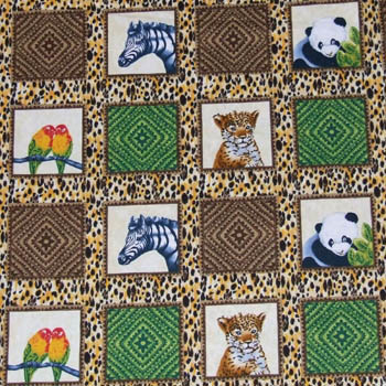 Out of Africa Baby Animals Zebra, Panda etc 72 Blocks/Labels