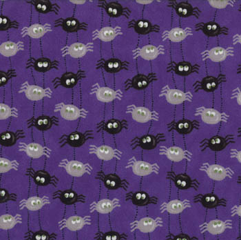 Pumpkin Party by Moda - Itsy Bitsy Spiders Purple