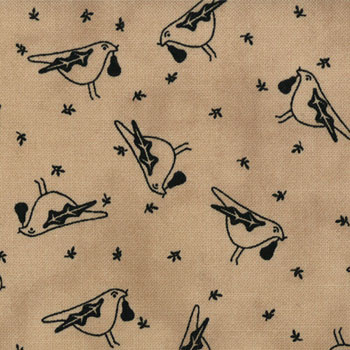 Seasonal Little Gatherings by Moda - Novelty Birds Natural