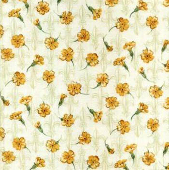 Shakespeare's Flowers by Fabric Freedom Fleur de Lis Yellow