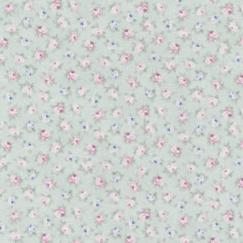 Spring Romance by Fabri-Quilt - Tiny Rose Teal